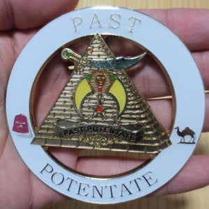 PAST POTENTATE Fez Camel White Car Emblem - Bricks Masons