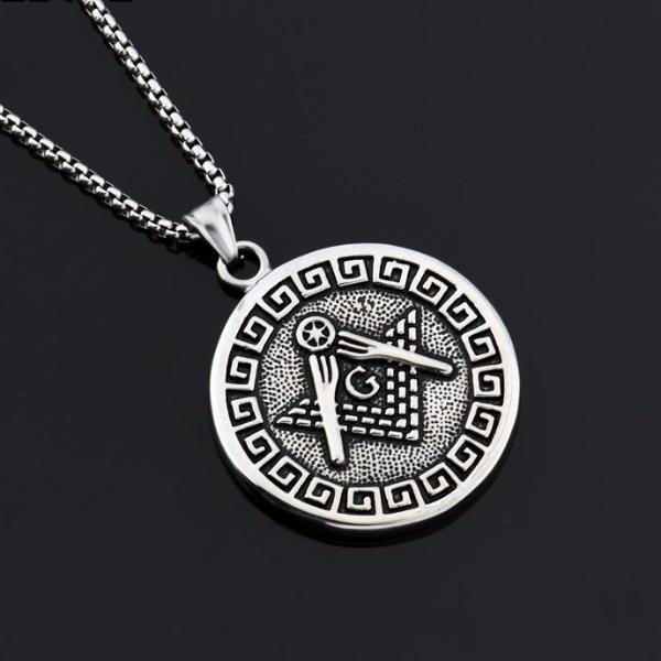 Square & Compass Classic Masonic Necklace - Bricks Masons