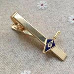 Blue Gold Masonic Trowel Tie Clip - Bricks Masons