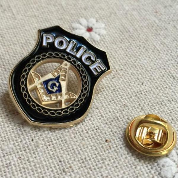 Police Square Compass Masonic Lapel Pin