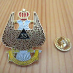 Ancient & Accepted Scottish Rite 33 Degree Masonic Lapel Pin - Bricks Masons