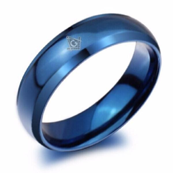 Blue Masonic Ring - Bricks Masons