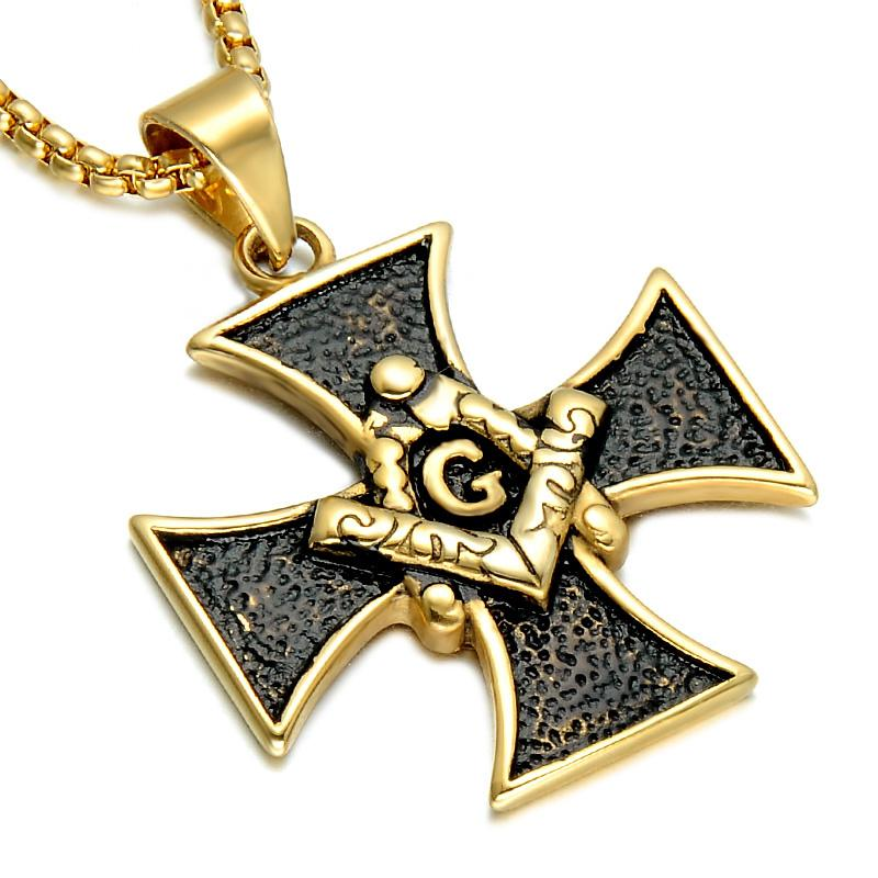 Bold Knights Templar Apprentice Masonic Necklace - Bricks Masons