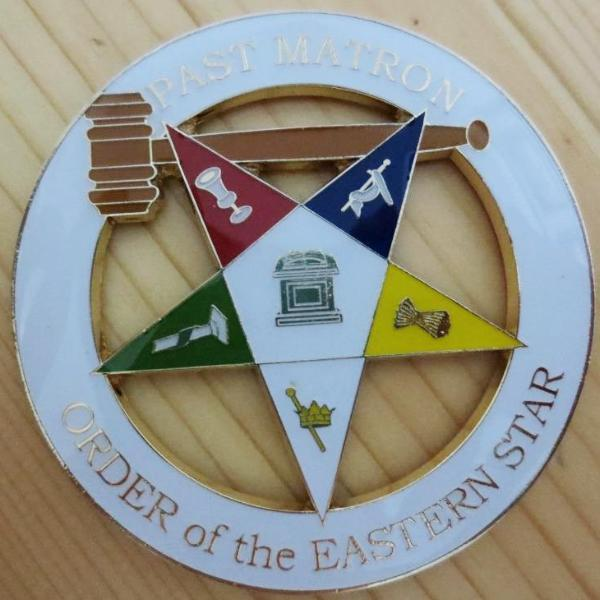PAST MATRON ORDER of the EASTERN STAR Car Emblem - Bricks Masons