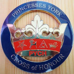 PRINCESSES YORK CROSS of HONOUR PYCH Car Emblem - Bricks Masons
