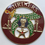 SHRINERS Rhinestone Minarets Dark Brown Car Emblem - Bricks Masons
