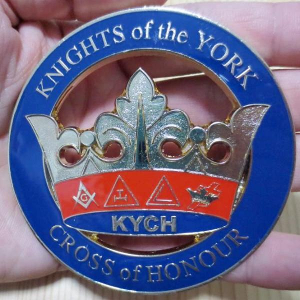 KNIGHTS of the YORK CROSS of HONOUR KYCH Car Emblem - Bricks Masons