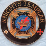 KNIGHTS TEMPLAR MASON IN HOC SIGNO VINCES Car Emblem Golden - Bricks Masons