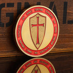 Knights Templar - IN HOD SIGNO VINCES Red Coin - Bricks Masons