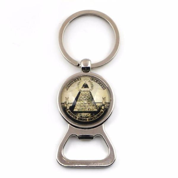 ANNUIT COEPTIS Keychain and Bottle Opener - Bricks Masons