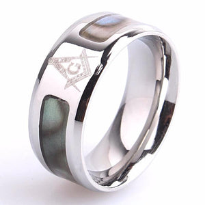 Le Baiser Spot Texture Masonic Ring - Bricks Masons