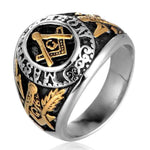 MASTER MASON Gold Color Masonic Ring - Bricks Masons