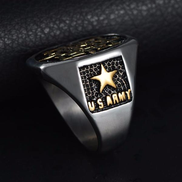 US Army Masonic Vampire Rose Ring - Bricks Masons