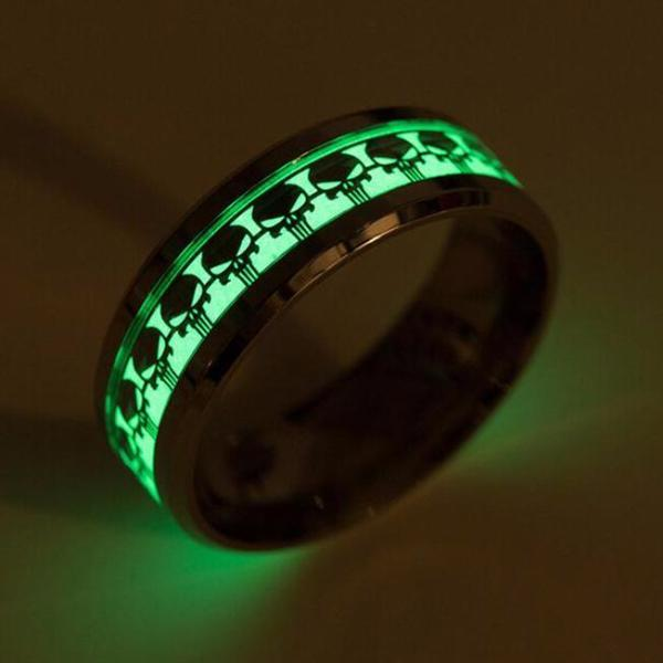 Lumineux Let There Be Light Biker Skull Ring - Bricks Masons