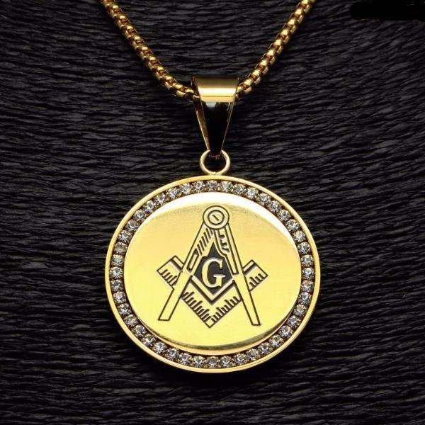 Bold Masonic Iced-Out Necklace [Gold & Silver] - Bricks Masons