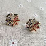 Sun 3 Stars Sunburst Square & Compass Cufflinks - Bricks Masons