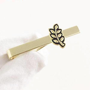 Sprig of Acacia Hiram Abiff Leaf Masonic Tie Clip - Bricks Masons