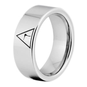 14th Degree Masonic Silver Color Ring FREE Engraving - Bricks Masons