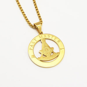 PAST MASTER Masonic Necklace - Bricks Masons