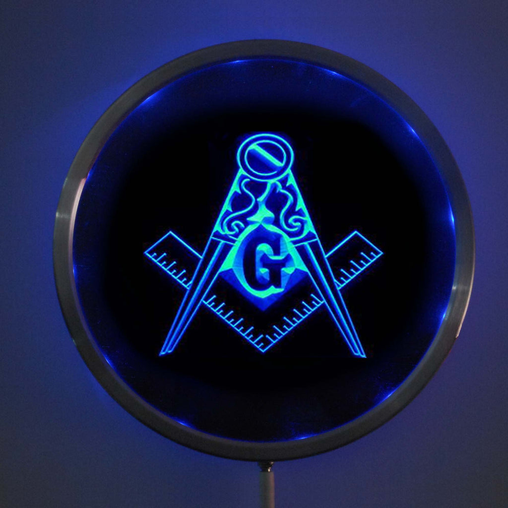 Masonic LED  Multi-Color Changing Sign with Remote Control - Bricks Masons