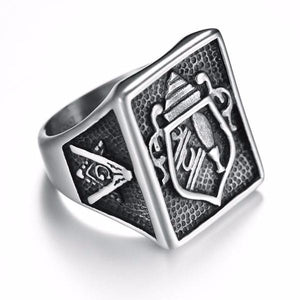 Punk Vintage Masonic Ring - Bricks Masons