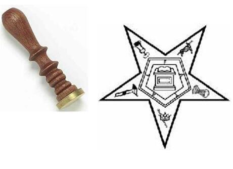 Order of the Eastern Star Wax Seal - Bricks Masons