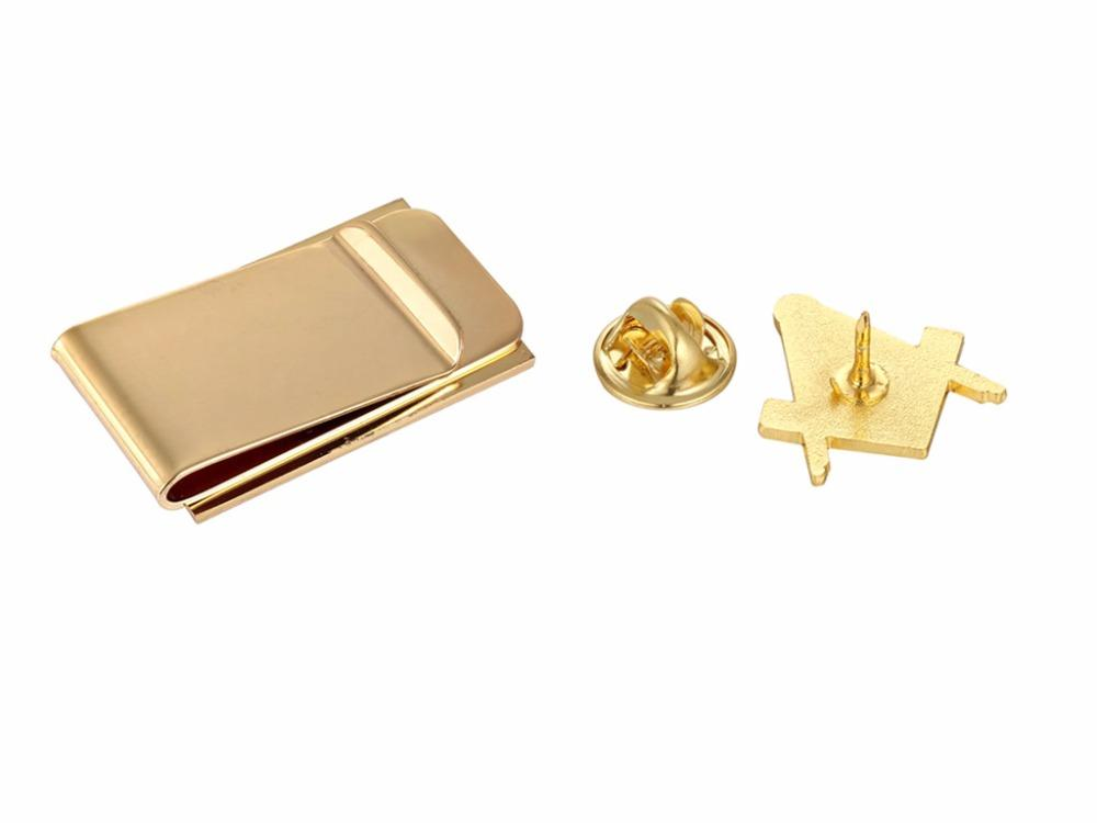 Masonic Money Clip and Lapel Pin Set - Bricks Masons
