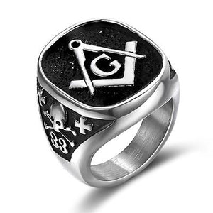 33 Degree Skull Masonic Ring