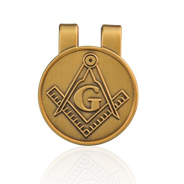 Masonic Money Clip Credit Card Holder - Bricks Masons