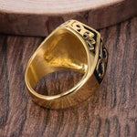 Vintage Hexagon Masonic Ring - Bricks Masons