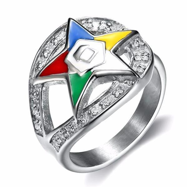 Order of the Eastern Star Masonic Ring - Bricks Masons