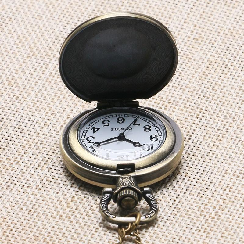 Compass and Square Bronze Pocket Watch - Bricks Masons