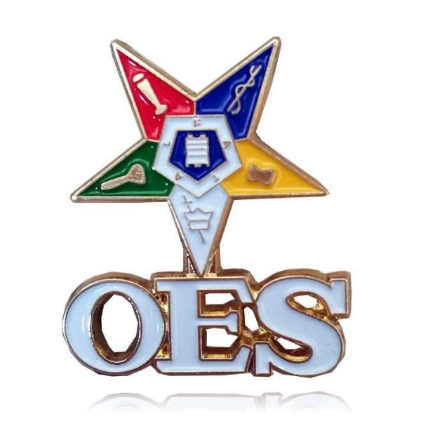 OES The Order of The Eastern Star Brooch Pin - Bricks Masons
