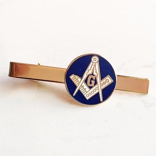 Masonic Square and Compass G Blue Lodge Tie Clip - Bricks Masons