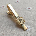 Double Headed Eagle Scottish Rite 32nd Degree Masonic Tie Clip with Rhinestone - Bricks Masons