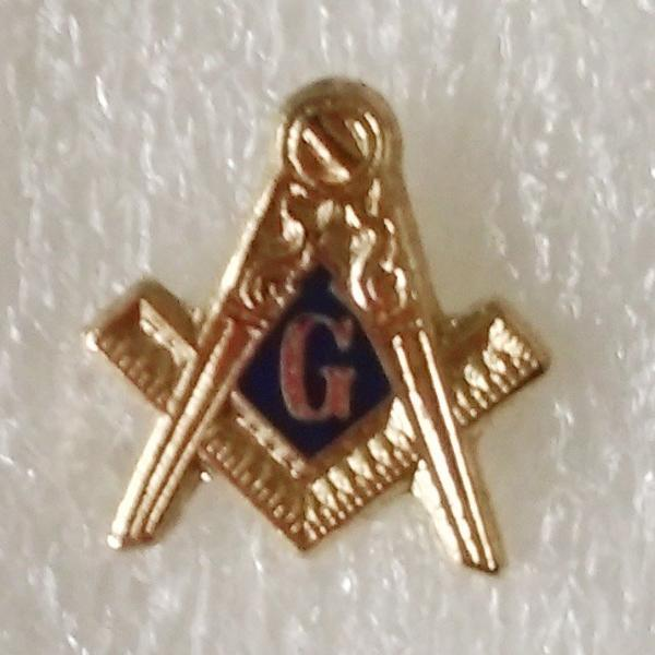 Square Compass G Masonic Lapel Pin