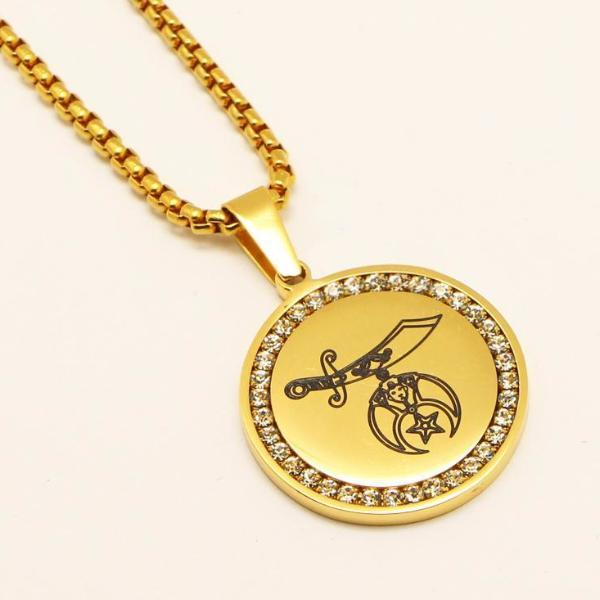 Shriners Stainless Steel Masonic Necklace [Gold & Silver]
