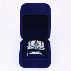 Past Master Masonic Zirconia Masonic Ring with Velvet Box - Bricks Masons