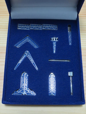 Masonic Miniature Working Tools Velvet Gift Set Boxed - Bricks Masons