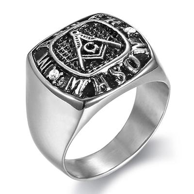 Master Mason Masonic Silver Ring - Bricks Masons