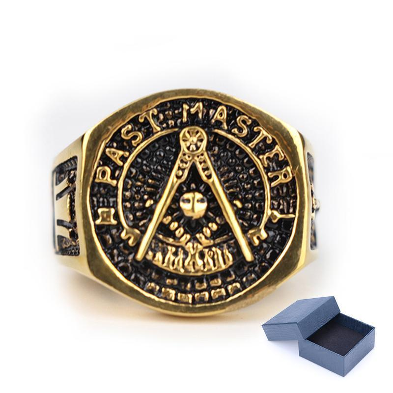 Past Master Masonic Signet Ring [Silver & Gold]