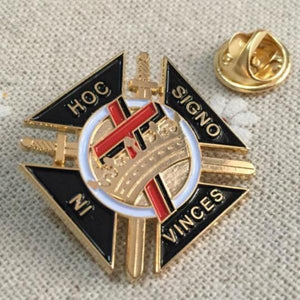Knights Templar IN HOC SIGNO VINCES Masonic Lapel Pin - Bricks Masons