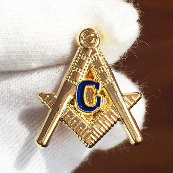 Square and Compass G Classical Masonic Lapel Pin