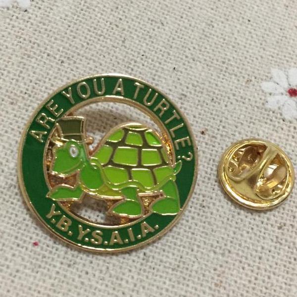 Are you a turtle Y.B.Y.S.A.I.A. Masonic Lapel Pin - Bricks Masons