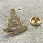 Past Master Golden Masonic Lapel Pin