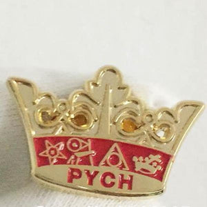 PYCH Crown Red Masonic Lapel Pin - Bricks Masons