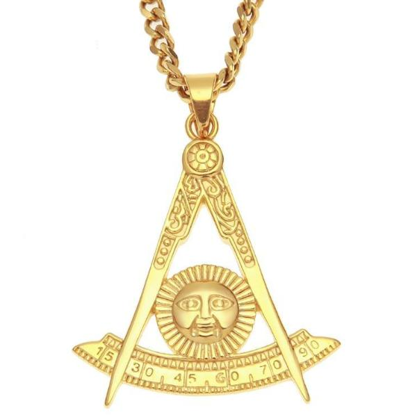Past Master Masonic Pendant Necklace