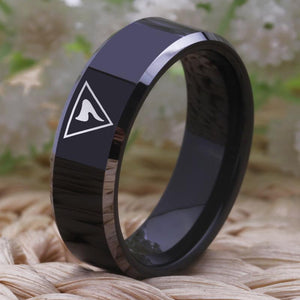 14th Degree Masonic Tungsten Ring FREE Engraving - Bricks Masons