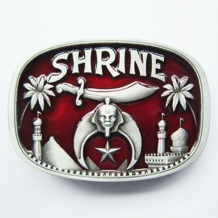 SHRINER Red Belt Buckles - Bricks Masons