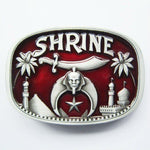 SHRINER Red Belt Buckles